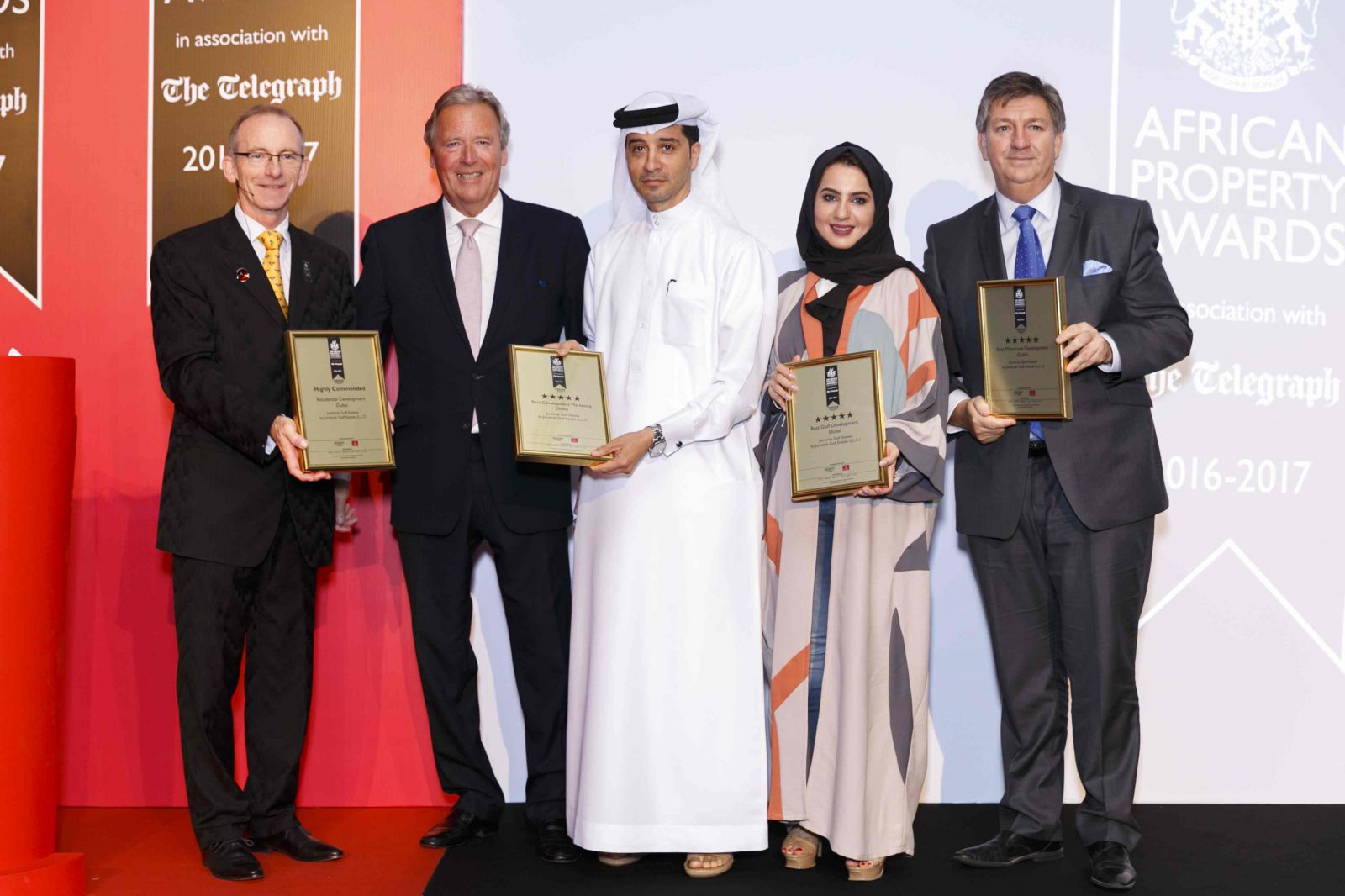 Jumeirah Golf Estates Scores Quadruple Win At Africa And Arabia Property Awards 2016
