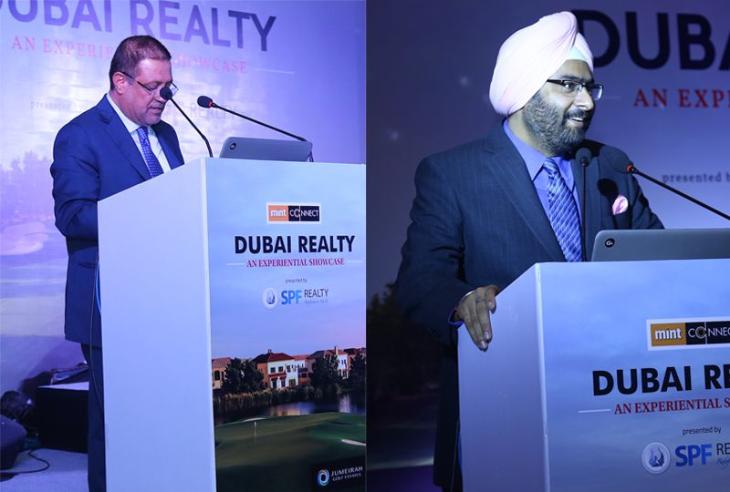 CEOs of Jumeirah Golf Estates and JLL India speak at the launch of strategic sales drive in New Delh
