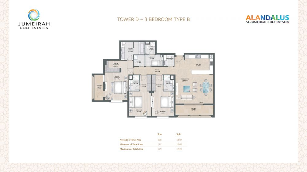 D 3 Bedroom Type B