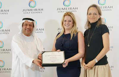 Jumeirah Golf Estates Holds Inaugural Award Event For Top Real Estate Brokers