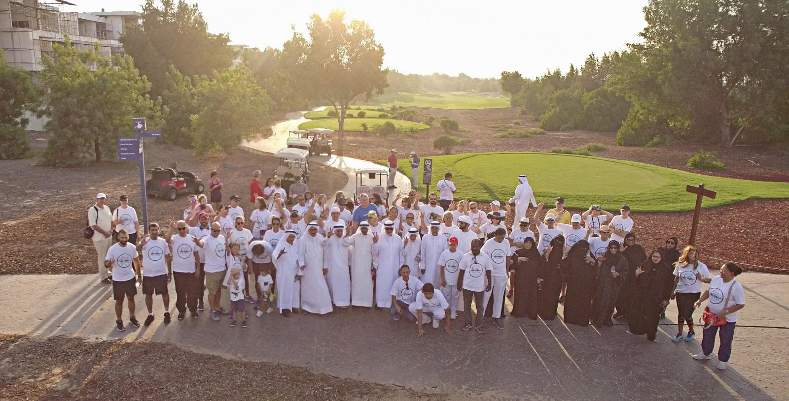 Hundreds join the Dubai Fitness Challenge Walk at  Jumeirah Golf Estates' Championship Golf Course
