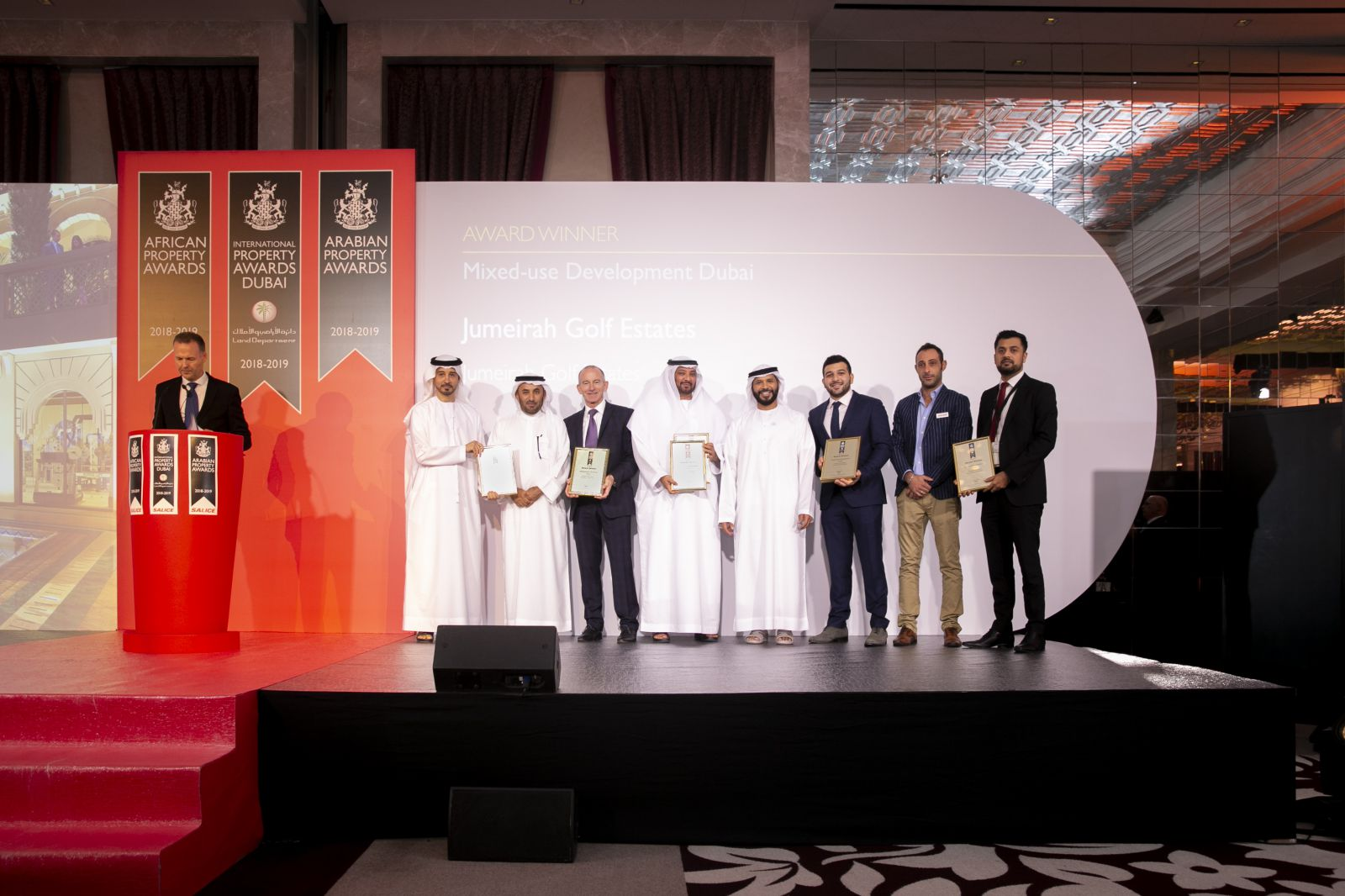 JUMEIRAH GOLF ESTATES SWEEPS SEVEN WINS AT  INTERNATIONAL PROPERTY AWARDS DUBAI 2018